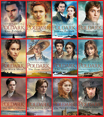 The Complete Poldark Series ~ All 12 Books in the Blockbuster Series ~ NEW