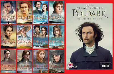 The Complete Poldark Series ~ All 12 Books Plus Series 1-5 DVD!  Pre-Order ~ NEW