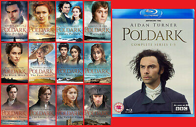 The Complete Poldark Series ~ All 12 Books Plus Series 1-5 Blu-ray!  Pre-Order