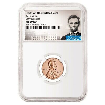 """2019 W First /""""W/"""" Mint Mark Cent EARLY RELEASES NGC PF69 RD U.C Portrait"""