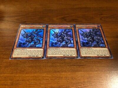 3 Iron Dragon Tiamaton Prismatic Secret Rare 1st Edition MP19-EN016 NM/M Yugioh