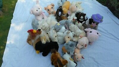 Job lot of wholesale branded soft toys - 32 pieces - Farm Animals - Brand New
