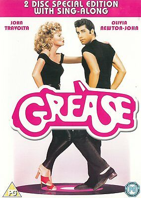 GREASE DVD ORIGINAL + SING ALONG EDITION 2 DISC SINGALONG ALL SONGS New/Sealed