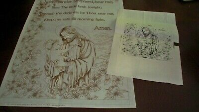 "#7 - (#2266)  - CHILD'S PRAYER BANNER - 17"" x 27"" - Ready To Paint!"