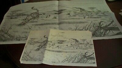 "#9 - (#2158)  - SERENGETI DRAMA, Picture - 20"" x 34"" - Ready To Paint!"