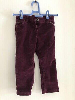 John Lewis Boys Maroon Jeans Trousers Age 3 Years