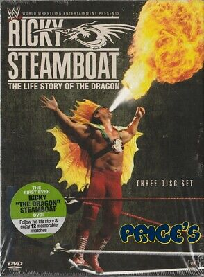WWE: Ricky Steamboat: The Life Story of the Dragon DVD 3-Disc Set Canadian LN
