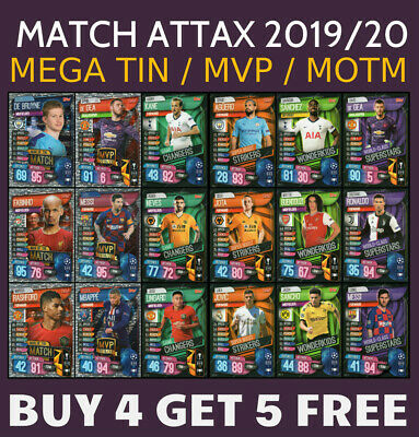 Match Attax 2019/20 Subset - Mega Tin - Man Of The Match - Mvp - Super Squad