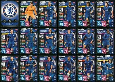 MATCH ATTAX 2019/20 19/20 CHELSEA FULL 18 CARD TEAM SET - inc BADGE & DUO