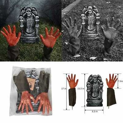 Halloween Party Outdoor Lawn Yard Decoration Realistic Looking Bloody Zombie Set