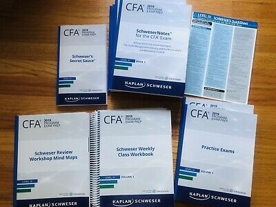 KAPLAN SCHWESER CFA Level 2 2019 and 2014 set