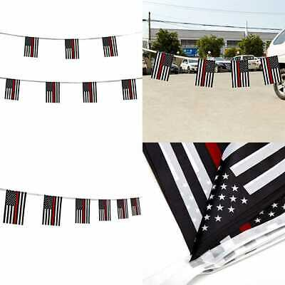 100 Ft Thin RED Line American Firefighter Flag SMALL Mini Honoring F