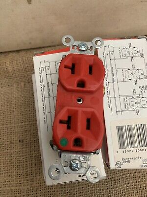 Pass & Seymour Legrand 8300-Hred Duplex Receptacle 20A 125V Red Hospital Grade