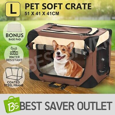 Portable Pet Carrier Soft Crate Cage Dog Cat Travel Bag Kennel Foldable Medium