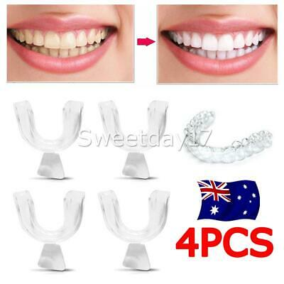 4PCS Silicone Night Mouth Guard for Teeth Clenching Grinding Dental Sleep Aid OZ