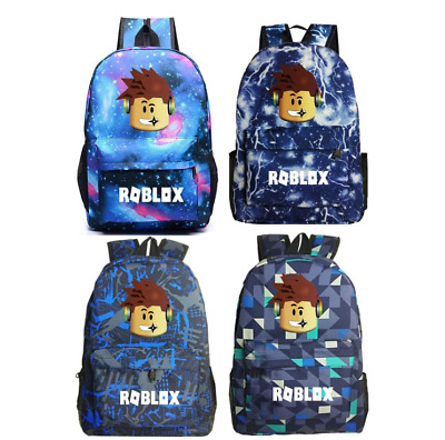 Galaxy School Bag Teenage Boy Girl  Roblox Backpack Collection Canvas Rucksack