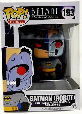 Funko Pop Heroes Animated Series Batman Batman Robot FUNKO 193 Brand New In Box