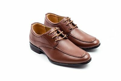 SUIT LAB - Boys Formal Dress Shoes   Wedding, Page Boy   Brown   Ages 2-17  