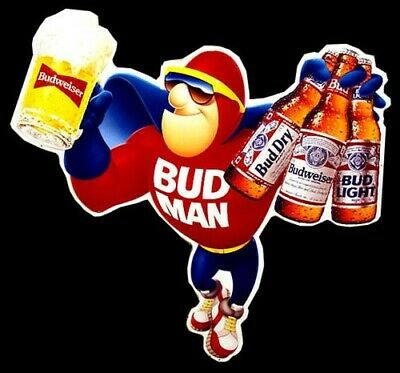 """Budweiser Beer Advertise Budman Icon Mancave Sign 13""""X19"""" Size Poster Print #3"""