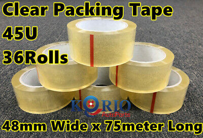 36x Sticky Packing Tape Packaging Tape - 45 Micron Adhesive Tape 45U - 48mmx75M