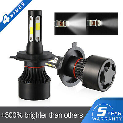 New 4-Side H4 LED Headlight Car Bulbs 300W 36000LM High And Low Beam Bright 2019