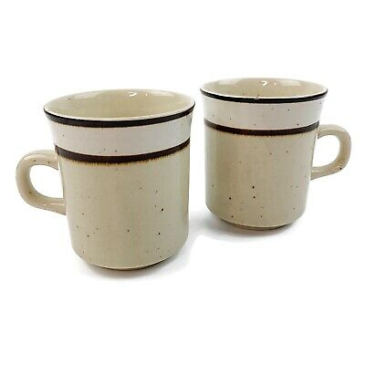 Vtg Set Of 2 Rainbow Stoneware Capri Coffee Mugs Cups Speckled Made In Japan