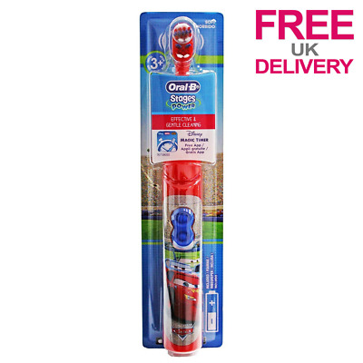 Oral B Stages Power Kids Disney Cars Electric Battery Toothbrush with Magic App