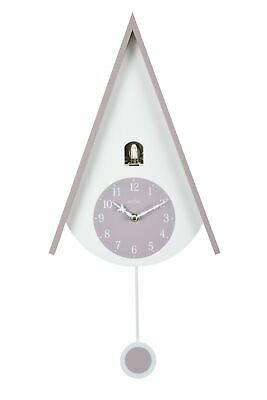 Acctim 'Lulea' Chalet Style Wall Cuckoo Clock Mauve & White 60cm High