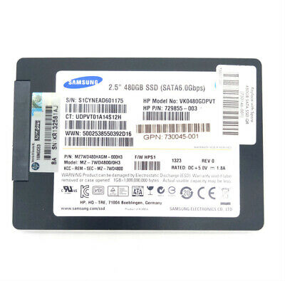 Samsung 480GB Enterprise SSD SM843T Solid State Drive 6Gpbs SATA For Laptop PC