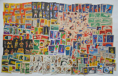 More Than 200 Czechoslovakian Matchbox Labels from 1961-1962