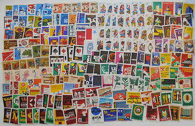 More Than 200 Czechoslovakian Matchbox Labels from 1966