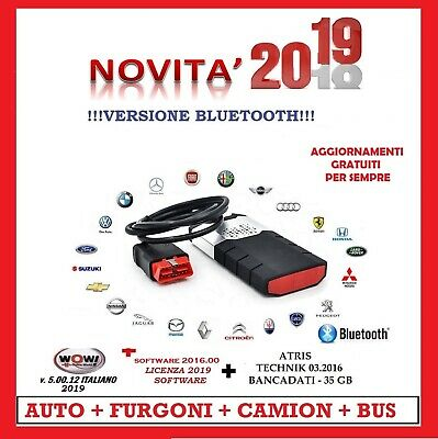 Auto Diagnosi Professionale Auto Camion Bus 2019 Bluetooth + 6 Software