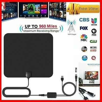 960 Miles Indoor Digital TV HDTV Antenna [2019 Latest] UHF/VHF/1080p 4K