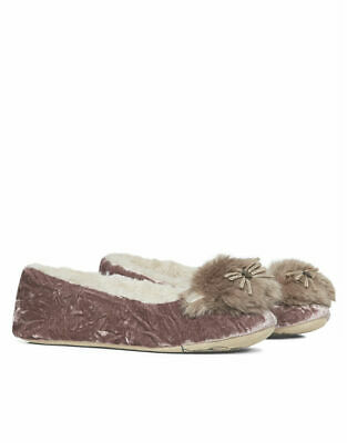 Cozees Ladies Novelty Owl Ballerina Slippers Size 4-7 Sherpa Girls Bally Gift