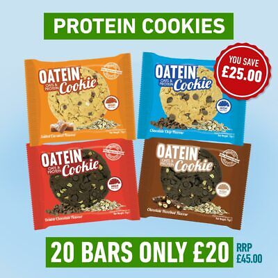 Oatein Protein Cookies (75g) 20 FOR £20 - (All Flavours)