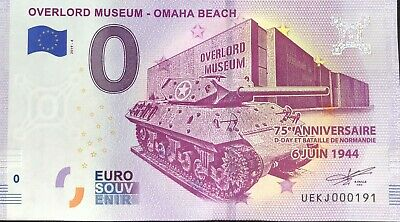 Billet 0 Euro Overlord Omaha Beach France   2019-4   Numero Divers