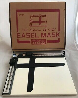 Vintage LPL Photographic Easel Mask Cutting Board 10x8 Inch Darkroom Developing