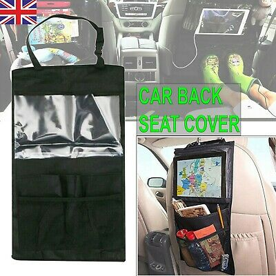 Car Back Seat Organizer Tablet iPad Holder Protector Kick Mat Storage Bag 1 Pcs