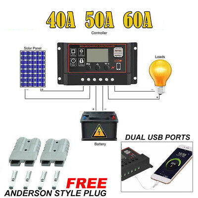 10A~60A Solar Panel Controller Battery Charge Regulator 12V/24V Automatic Memory