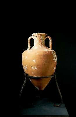 Ancient Greco Italic Amphora 3rd Century BC Pottery Antique Shipwrecked Jug Vase