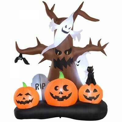 8' Lighted Inflatable Outdoor Halloween Yard Decoration - Spooky Dead Tree
