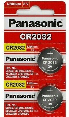 2 x FRESH Panasonic CR2032 ECR2032 Lithium Battery 3V Coin Cell Exp. 2028