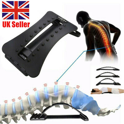 NEW Back Magic Stretcher Lower Lumbar Pain Spine Massager Support Posture Relief