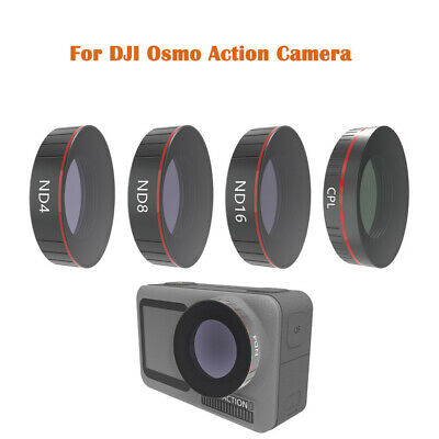 4PCS ND4 +ND8+ ND16 +CPL Camera Lens Filters For DJI OSMO ACTION Camera