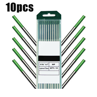 Replacement Tungsten Electrode Metalworking 10pcs TIG Welding Pure Green
