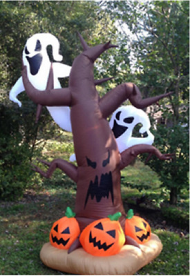 8 Ft Halloween Airblown Tree Ghosts Inflatable Lighted Yard Prop Haunted Decor