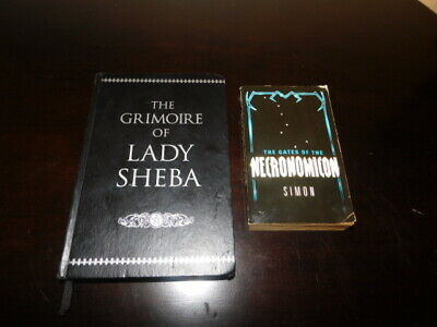wiccan witch witchcraft grimorie lot 2 book grimorie of lady sheba necronomicon