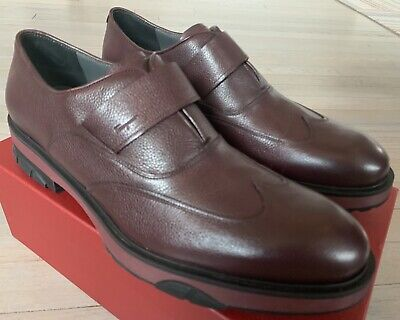$600 Salvatore Ferragamo Dioniso Marion Leather Shoes Size US 10 Made in Italy