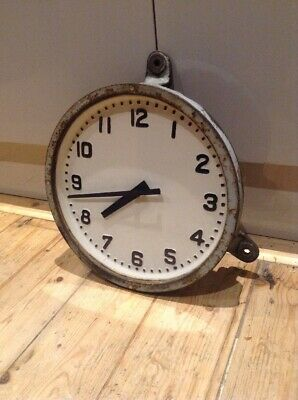 Vintage Industrial Cast Iron Gents of Leicester Factory Railway Slave Wall Clock