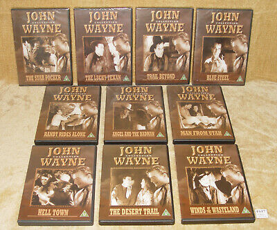 10x JOHN WAYNE COLLECTION DVDS - SOME STILL NEW SEALED - GREAT WESTERNS CLASSICS